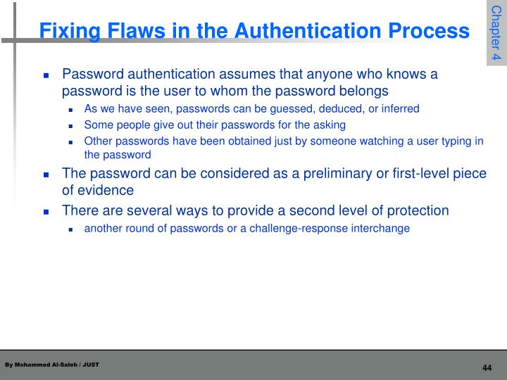 Fixing Flaws in the Authentication Process