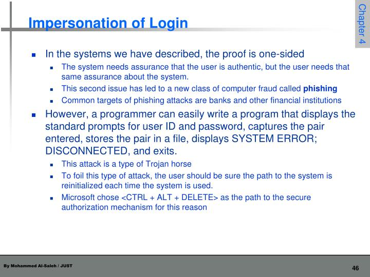 Impersonation of Login