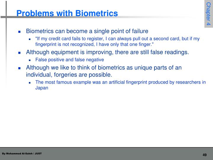 Problems with Biometrics