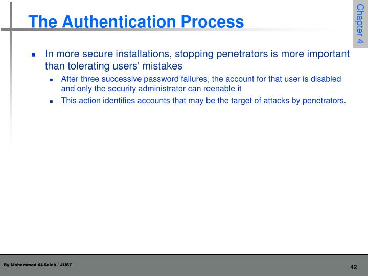 The Authentication Process
