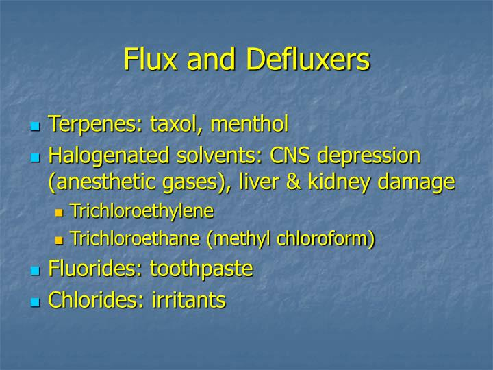 Flux and Defluxers