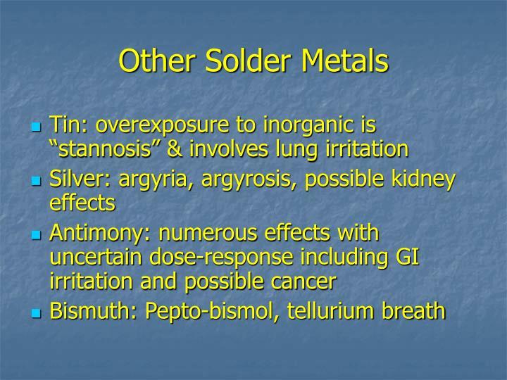 Other Solder Metals