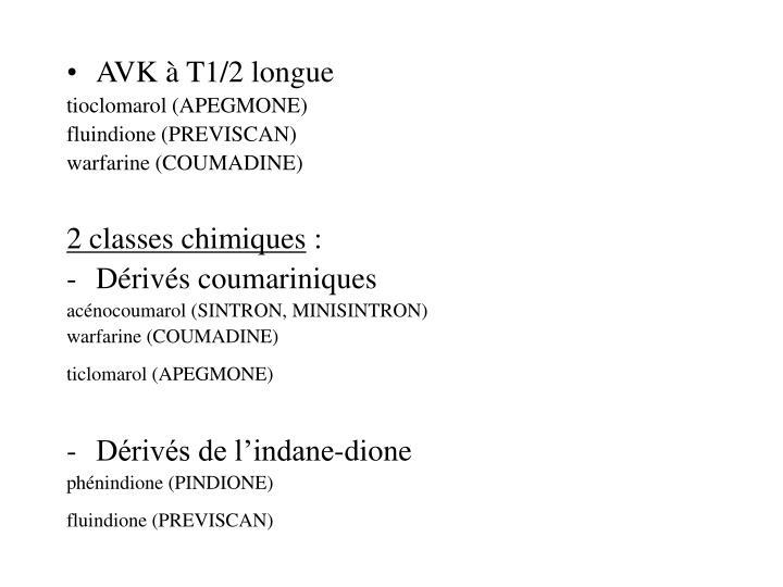 AVK à T1/2 longue