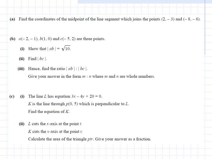2x – y + 4 = 0   Equation of bc