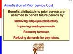 amortization of prior service cost1