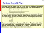 defined benefit plan1