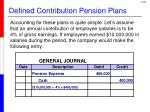 defined contribution pension plans1
