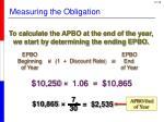 measuring the obligation2