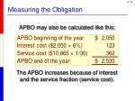 measuring the obligation3
