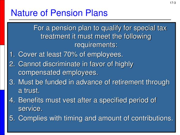 Nature of pension plans1