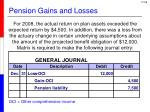 pension gains and losses