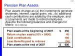 pension plan assets1