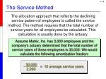 the service method