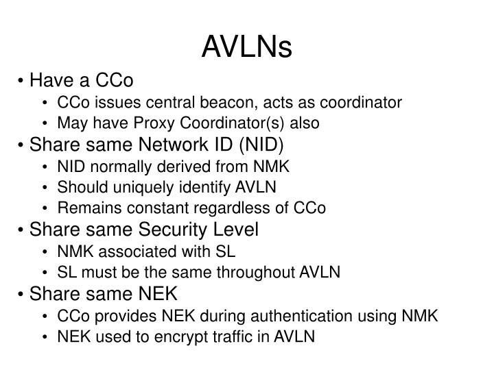 AVLNs