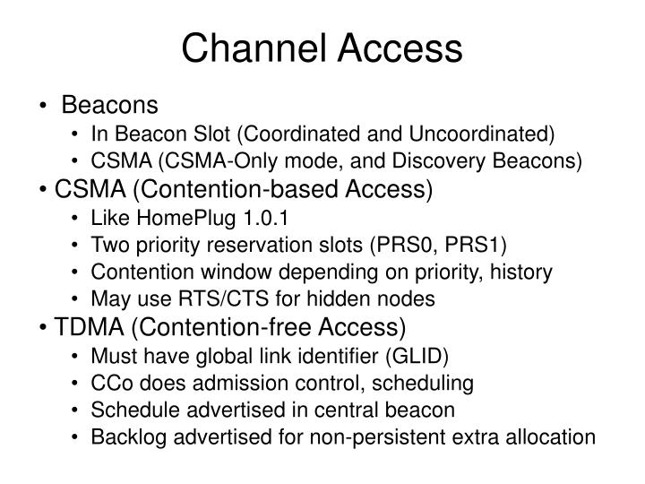 Channel Access