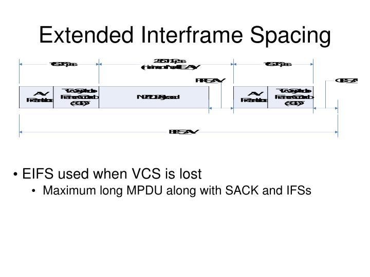 Extended Interframe Spacing