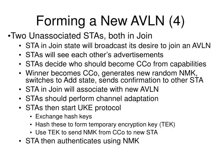 Forming a New AVLN (4)