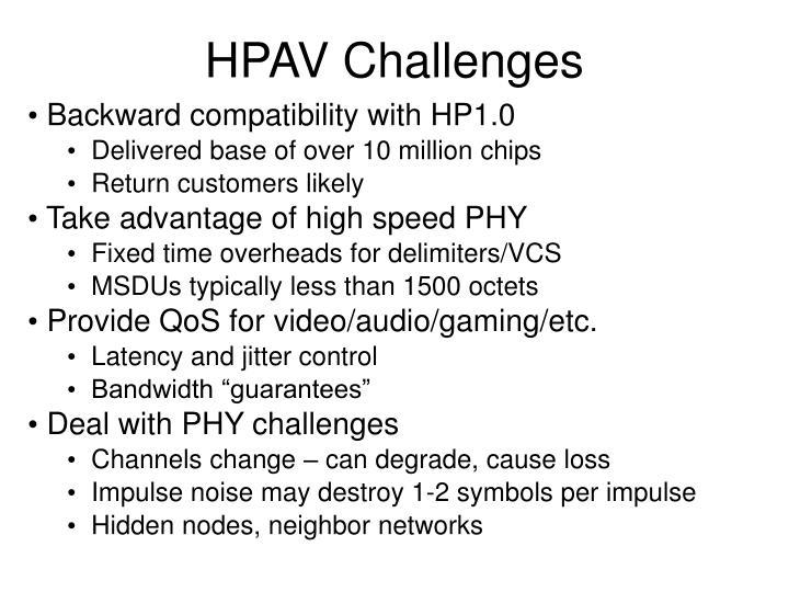 HPAV Challenges