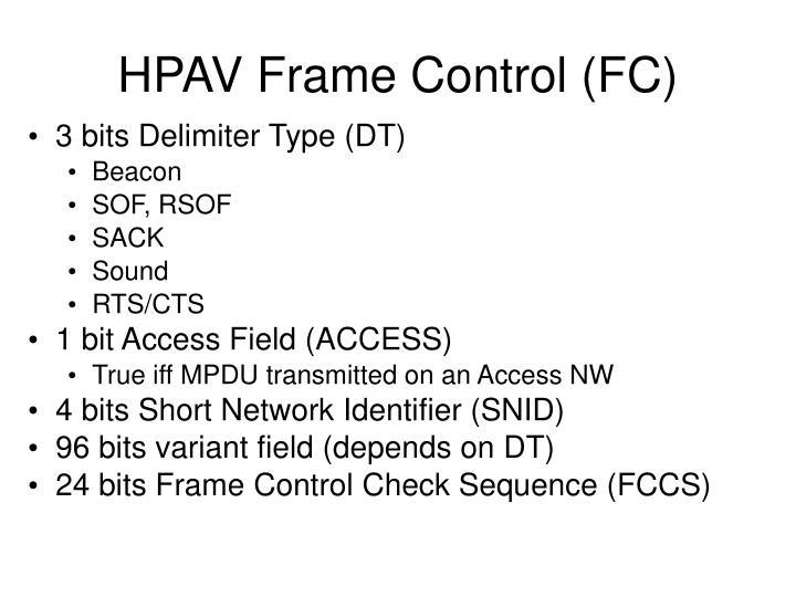 HPAV Frame Control (FC)