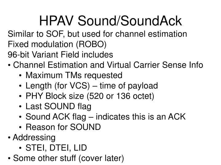 HPAV Sound/SoundAck