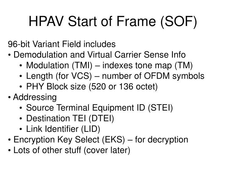 HPAV Start of Frame (SOF)
