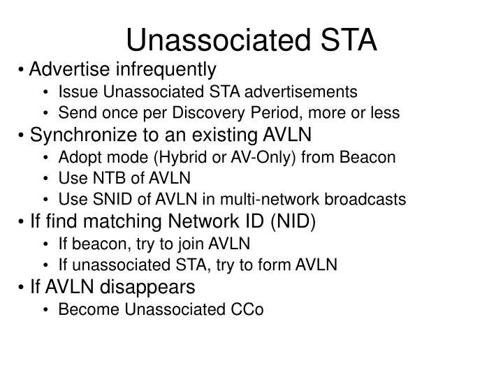 Unassociated STA