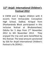 11 th anjali international children s festival 2012