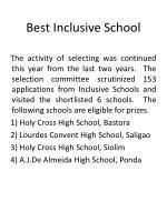 best inclusive school