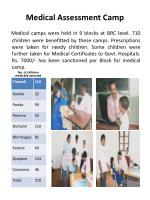 medical assessment camp