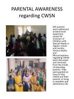 parental awareness regarding cwsn