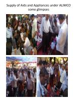 supply of aids and appliances under alimco some glimpses