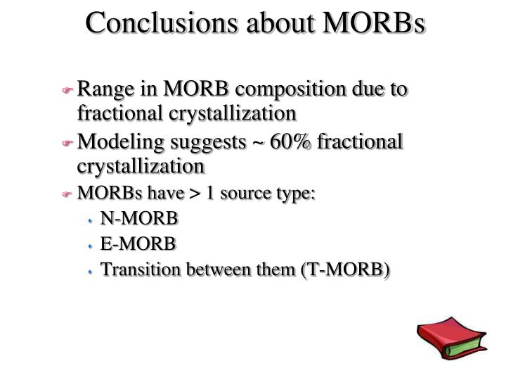 Conclusions about MORBs