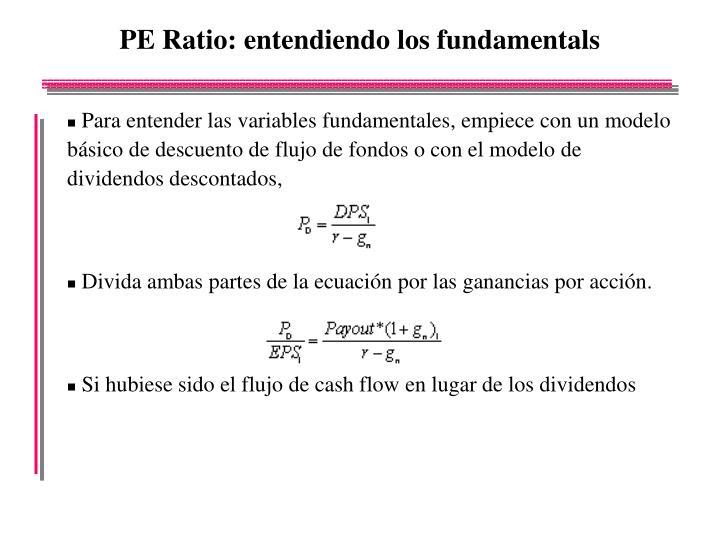 PE Ratio: entendiendo los fundamentals
