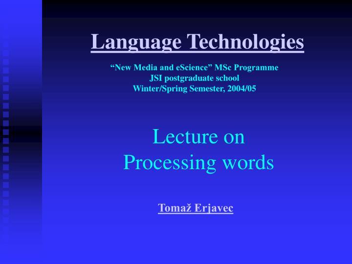 language technologies