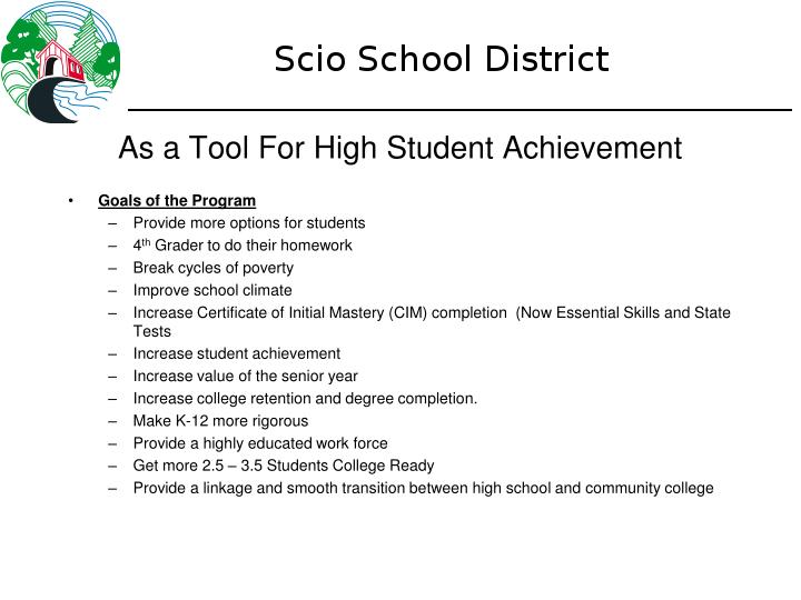 As a Tool For High Student Achievement