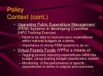 policy context cont