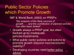 public sector policies which promote growth