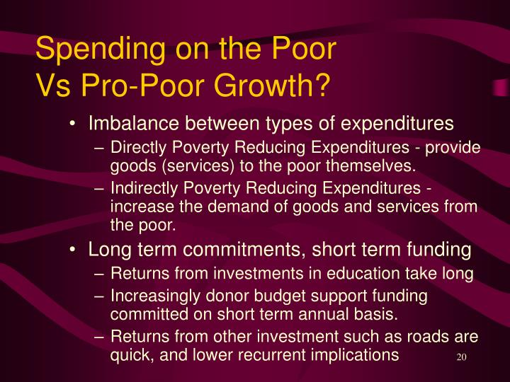 Spending on the Poor