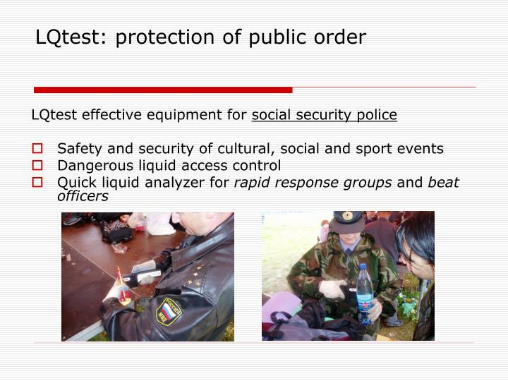 LQtest: protection of public order