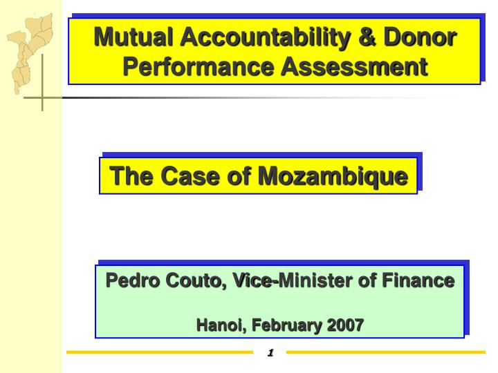 Mutual Accountability & Donor Performance Assessment