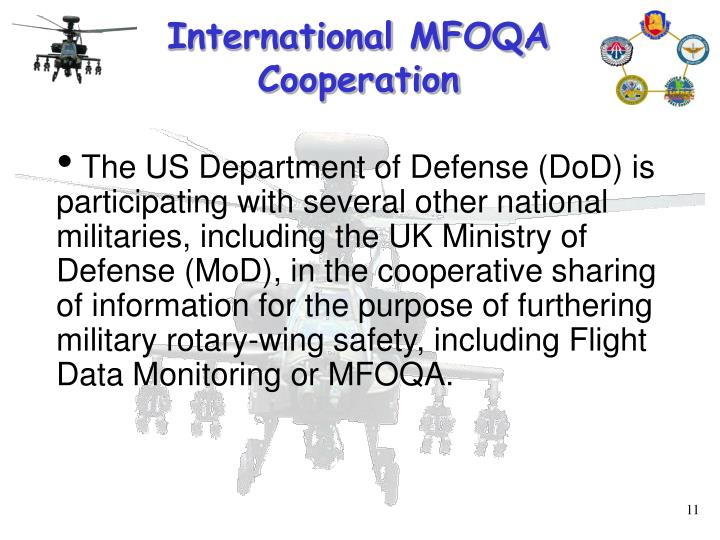 International MFOQA Cooperation