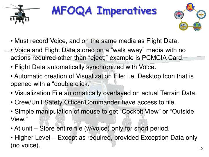 MFOQA Imperatives