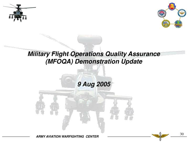 Military Flight Operations Quality Assurance (MFOQA) Demonstration Update