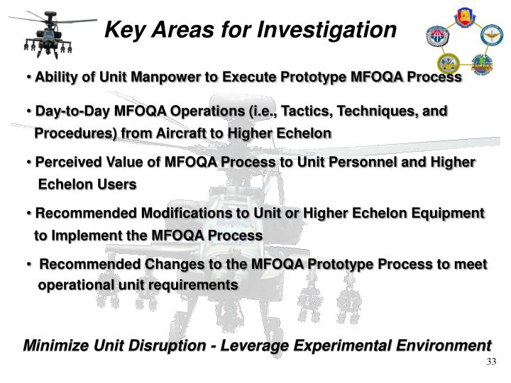Key Areas for Investigation