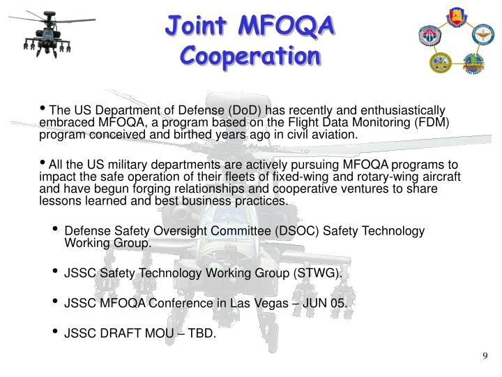 Joint MFOQA Cooperation