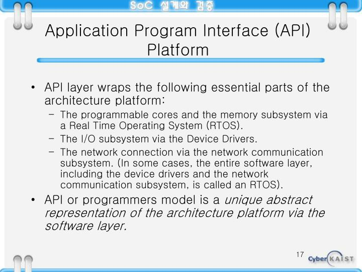 Application Program Interface (API) Platform