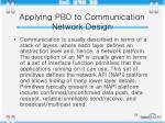 applying pbd to communication network design2
