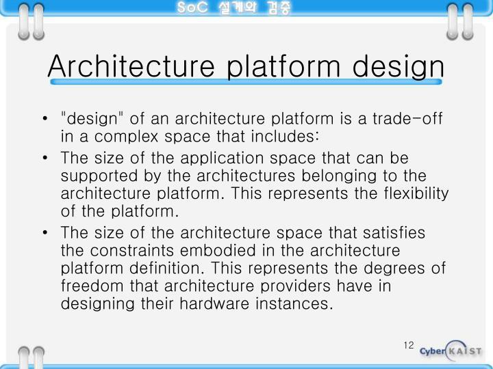 Architecture platform design
