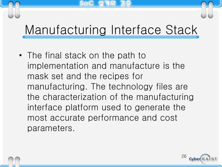 Manufacturing Interface Stack