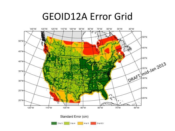 GEOID12A Error Grid